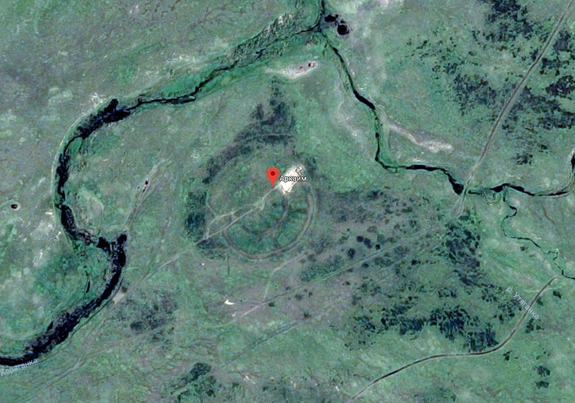 Аркаим на Гугл карте